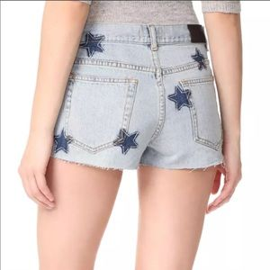 Rails Logan Embroidered Stars Jean Shorts